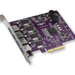 Allegro USB 3.0 PCIe Card - NEW - (4 controllers, 4 charging ports) [Thunderbolt compatible]