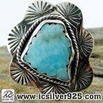 ▽ลาริมาร์ (Larimar) แหวนเงินแท้ 925 (แหวนเบอร์ : 56)