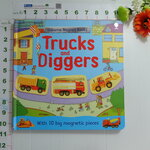 Usborne Magnet Book : Truck and Digger