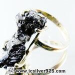 ▽Campo Del Cielo Meteorite แหวนเงินแท้ 925 (แหวนเบอร์ : 57 ,4.9g)