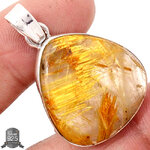 ▽จี้เงินแท้ 925 - ไหมทอง Golden Rutile (8.5g)