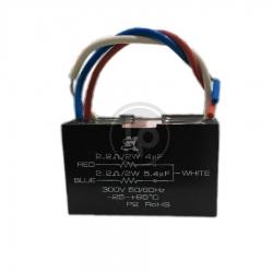 คาปาซิเตอร์พัดลม 4+5.4 uF 300V