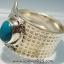 ▽คริสโซโคลล่า Chrysocolla- เปรู-แหวนเงินแท้ 925 -(แหวนเบอร์ : 58) thumbnail 4