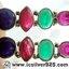 ▽ทับทิม, มรกต และ ไพลิน Indian Sapphire, Ruby & Emerald- ต่างหูเงินแท้ 925 (5.7g) thumbnail 5