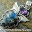 ▽K2 Blue (Azurite In Quartz) & Amethyst-จี้เงินแท้ 925 (6.2g) thumbnail 1