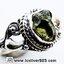 ▽สะเก็ดดาวโมดาไวท์ MOLDAVITE -แหวนเงินแท้ 925 (ขนาดแหวนเบอร์ : 59) thumbnail 2