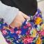 เลคกิ้งคนท้อง P7 สี blue flower สีน้ำเงินลายดอก ขายาว มีผ้าพยุงครรภ์และสายปรับเอว ราคาส่ง 390 บาท thumbnail 11