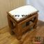 โต๊ะกราบ ไม้สักทองไซส์เล็ก [สีขาว] thumbnail 5