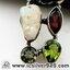 ▽สะเก็ดดาวโมดาไวท์ MOLDAVITE, Ethiopian Opal Rough, Green Amethyst/ Prasiolite, Garnet & Peridot -จี้เงินแท้ 925 (6.3g) thumbnail 3