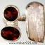 Pink Kunzite & Garnet แหวนเงินแท้ 925 (แหวนเบอร์ : 56) thumbnail 1