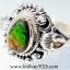 แอมโมไลต์จากแคนาดา Canadian Ammolite แหวนเงินแท้ 925 (แหวนเบอร์ : 57) thumbnail 5