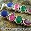 ▽ทับทิม, มรกต และ ไพลิน Indian Sapphire, Ruby & Emerald- ต่างหูเงินแท้ 925 (5.7g) thumbnail 6