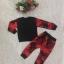 ชุดลายพราง (เสื้อแขนยาว+กางเกงขายาว) สีแดง+ดำ thumbnail 4