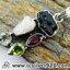 ▽สะเก็ดดาวโมดาไวท์ MOLDAVITE, Ethiopian Opal Rough, Green Amethyst/ Prasiolite, Garnet & Peridot -จี้เงินแท้ 925 (6.3g) thumbnail 5