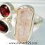 Pink Kunzite & Garnet แหวนเงินแท้ 925 (แหวนเบอร์ : 56) thumbnail 4