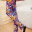 เลคกิ้งคนท้อง P7 สี blue flower สีน้ำเงินลายดอก ขายาว มีผ้าพยุงครรภ์และสายปรับเอว ราคาส่ง 390 บาท thumbnail 6