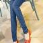 เลคกิ้งคนท้อง P38 สี light blue jean (ผ้ายีนส์) ราคาส่ง 385 บาท thumbnail 1
