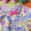 เสื้อเด็ก D2 (3-4 ขวบ) ลายดอกไม้สีเหลือง-ม่วง thumbnail 2