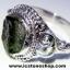 ▽สะเก็ดดาวโมดาไวท์ MOLDAVITE -แหวนเงินแท้ 925 (ขนาดแหวนเบอร์ : 59,3.5g) thumbnail 5