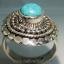 เทอร์ควอยซ์ Turquoise แหวนเงินแท้ 925 (แหวนเบอร์ : 55) thumbnail 2