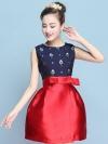 ชุดเดรสทำงานสีแดง สีกรมท่าลายน่ารักๆ กระโปรงทรงสุ่มสีแดง แฟชั่นชุดทำงานสาวออฟฟิศดูดีมีสไตล์