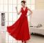 ชุดแซกยาวสวยๆ สีแดง ผ้ายืด thumbnail 1
