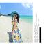 ชุดเดรสยาวไปเที่ยวทะเลโทนสีฟ้า เหลือง ลายดอกไม้ ผ้าชีฟอง thumbnail 5