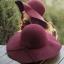 หมวกปีกกว้างเที่ยวทะเล สีไวน์แดง ผ้าสักหลาด ทรงสวย thumbnail 5