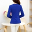 เสื้อสูททำงานสีน้ำเงิน ทรงเข้ารูป คอปก แขนยาว ผ้าโพลีเอสเตอร์ มีซับใน ไซส์ L thumbnail 6