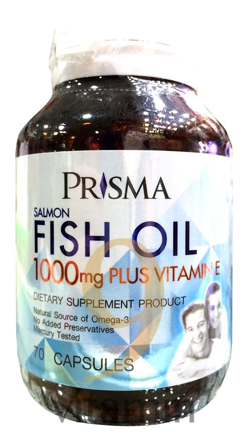Prisma salmon fish oil 1000mg plus vitamin e 70 39 s for Fish oil vitamin e