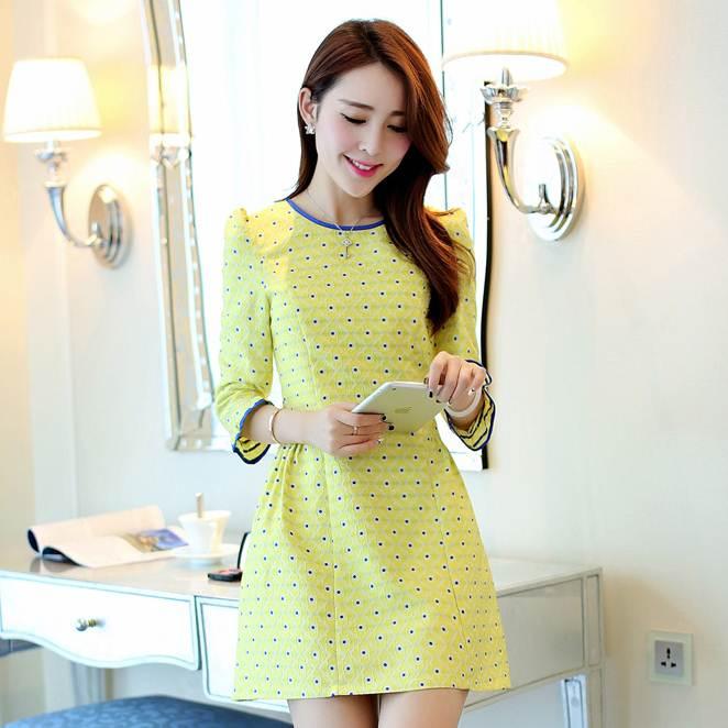 ชุดทำงานสวยๆ สีเหลือง