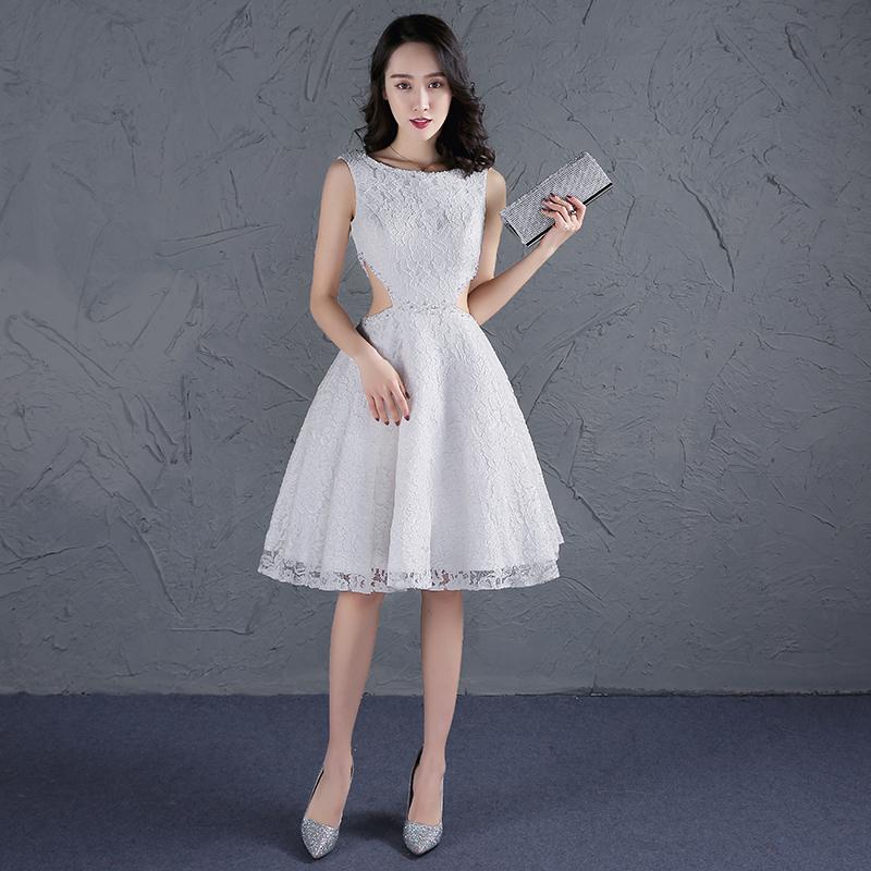 ชุดราตรีชุดออกงานชุดไปงานแต่งสีขาวสวยหรูราคาถูก