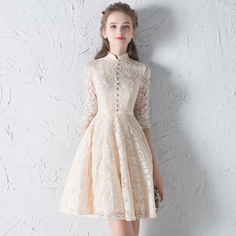 ชุดราตรีชุดออกงานชุดไปงานแต่งสีครีมสวยหรูราคาถูก