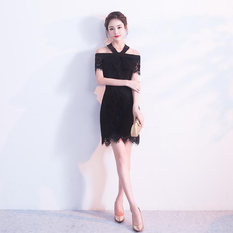 ชุดราตรีชุดออกงานสีดำดูดีสวยหรู