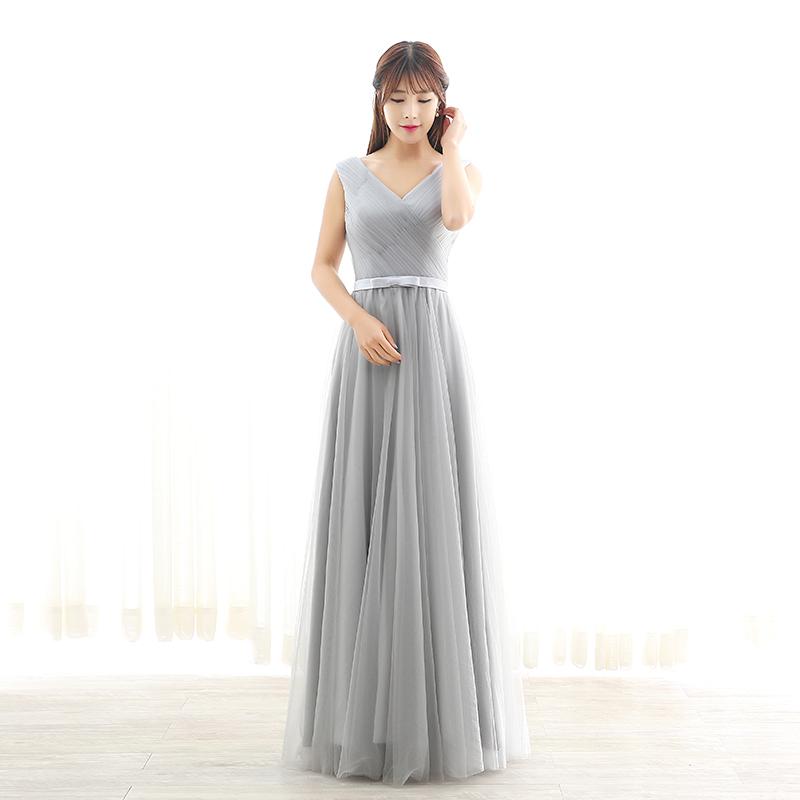 ชุดราตรีชุดออกงานชุดไปงานแต่งสีเทาดูดีสวยหรู