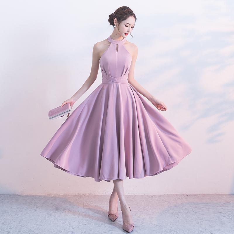 ชุดราตรีชุดออกงานชุดไปงานแต่งสีม่วงดูดีสวยหรู