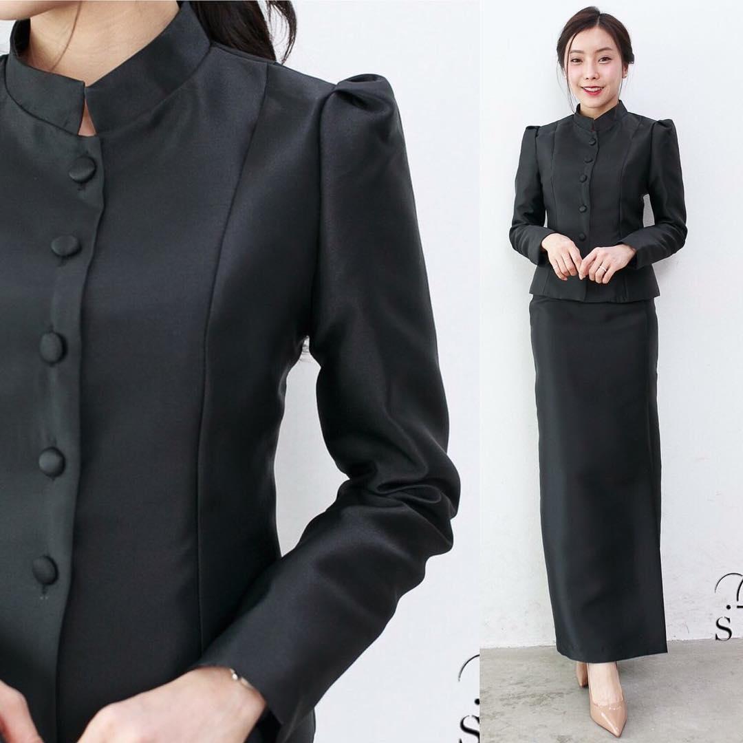 ชุดไทยจิตรลดาสีดำ ราคาถูก พร้อมส่ง