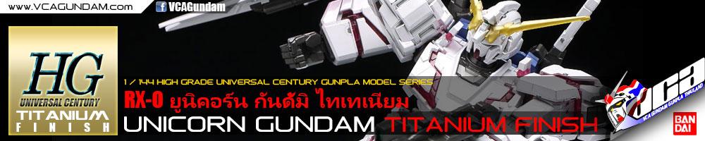 HG ยูนิคอร์น กันดั้ม UNICORN GUNDAM DESTROY MODE TITANIUM FINISH