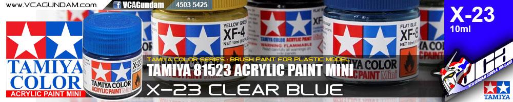 ACRYLIC X-23 CLEAR BLUE
