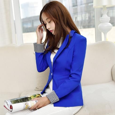 เสื้อสูททำงานผู้หญิงสีน้ำเงิน