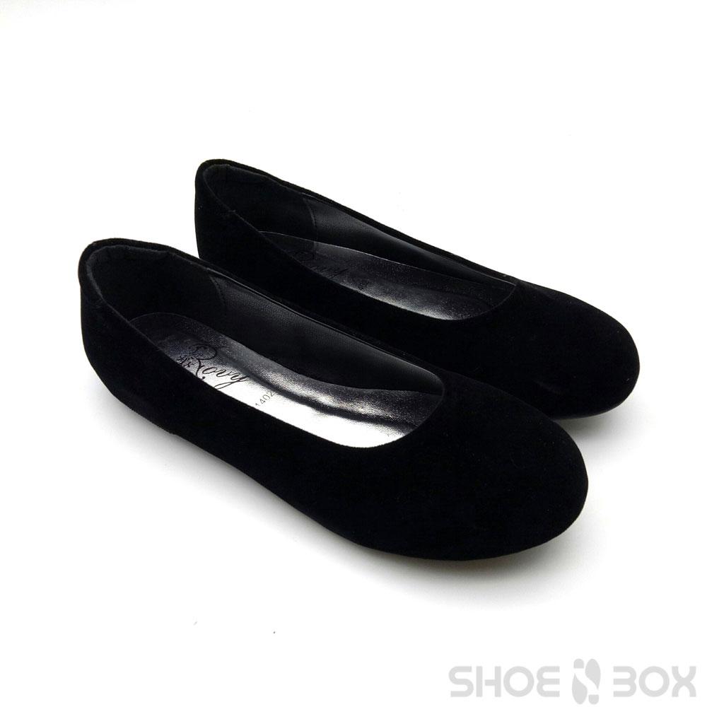 รองเท้าคัชชูส้นแบนRovy [W1402] - Black