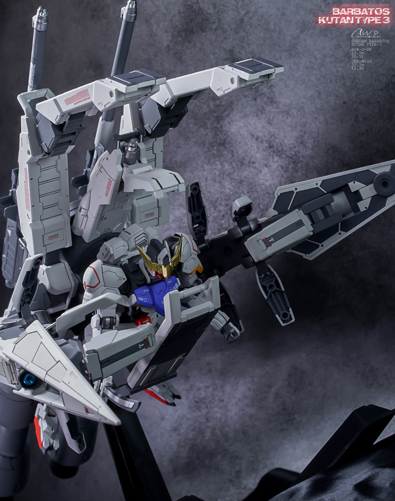 HG 1/144 Gundam Barbatos + Transport Booster | Modeled by Identity