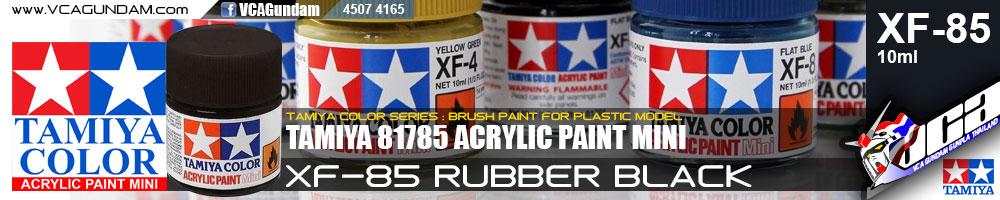 Tamiya 81785 ACRYLIC XF-85 RUBBER BLACK