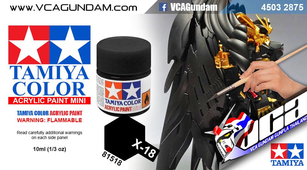 Tamiya 81518 ACRYLIC X-18 SEMI GLOSS BLACK