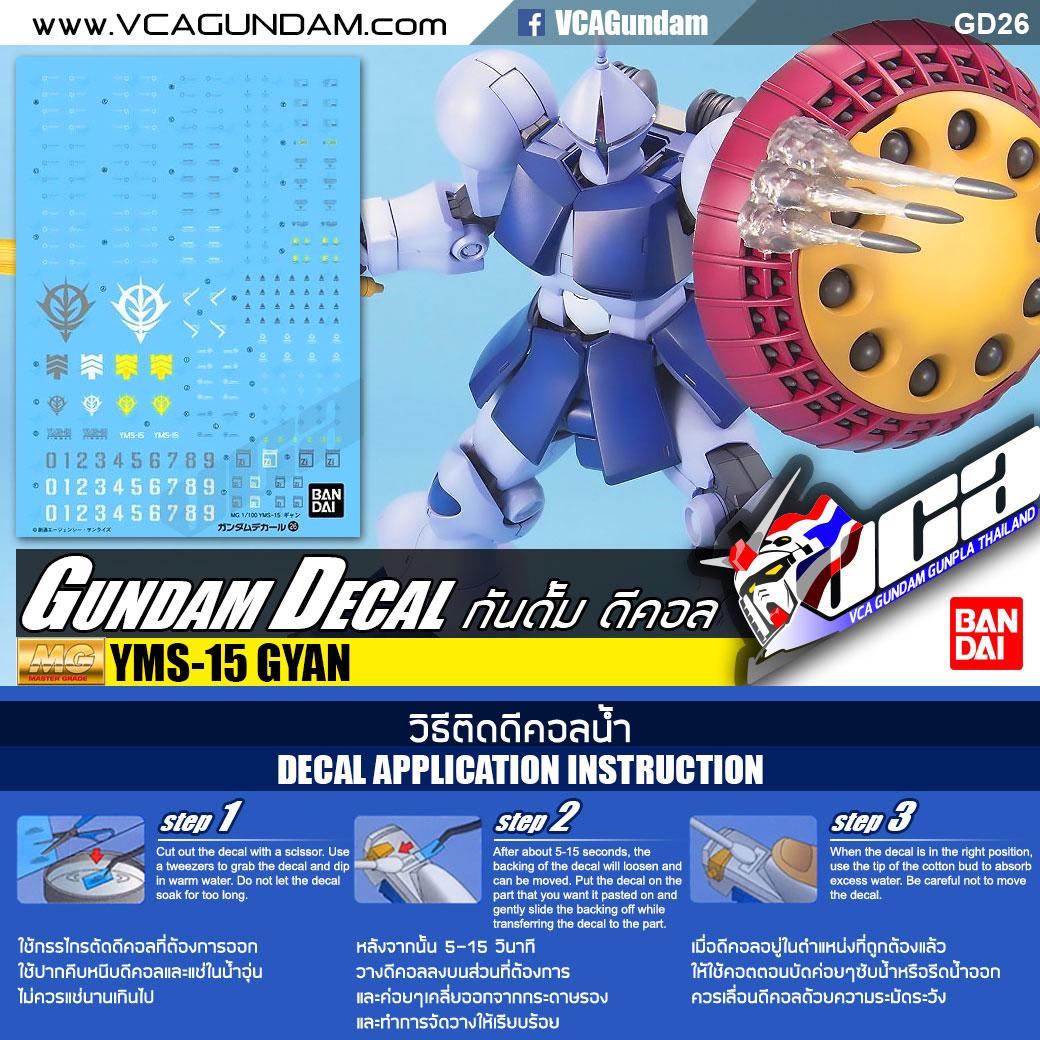 GUNDAM DECAL | MG YMS-15 GYAN เกียน