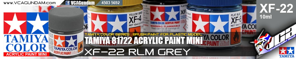 TAMIYA 81722 ACRYLIC XF-22 RLM GREY