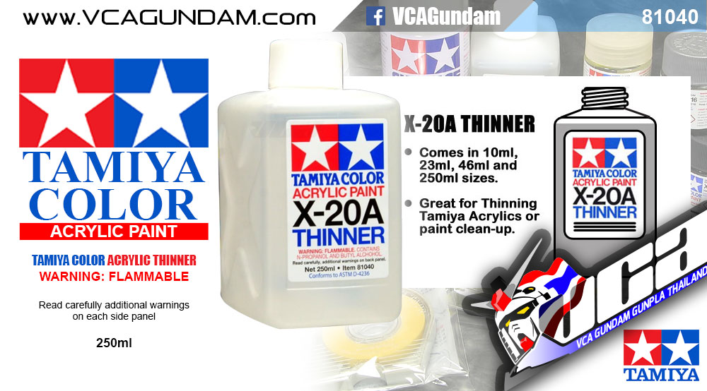TAMIYA 81040 ACRYLIC X-20A ACRYLIC THINNER 250ML