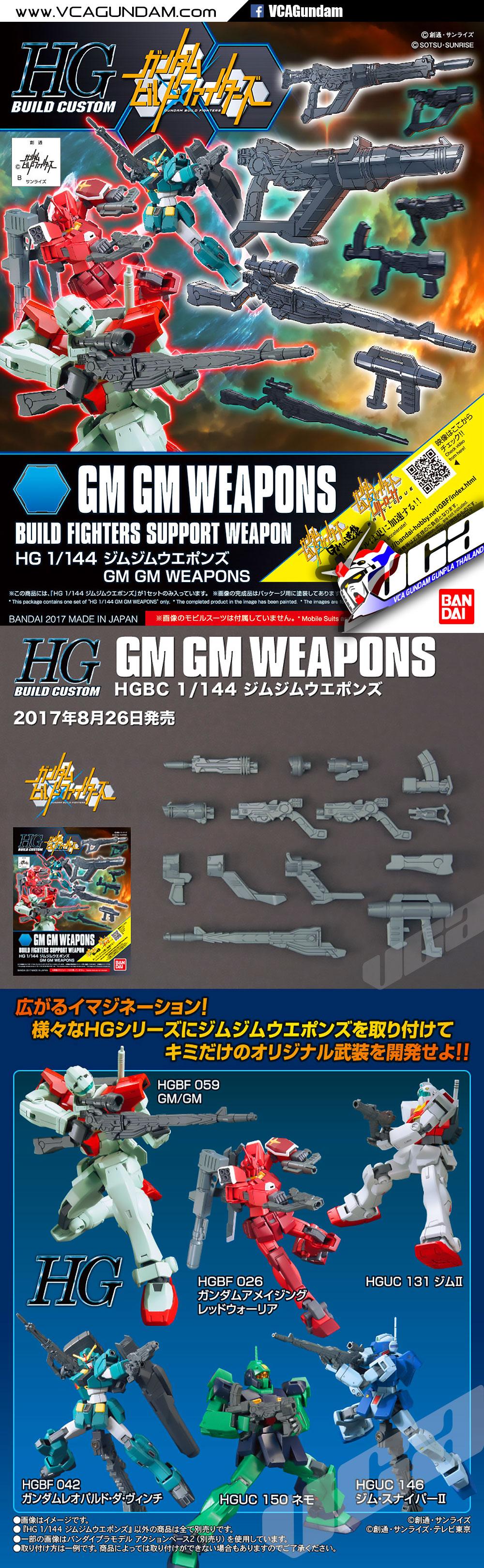 Bandai HG Build Custom 030 GM GM WEAPONS 1//144 Scale Kit