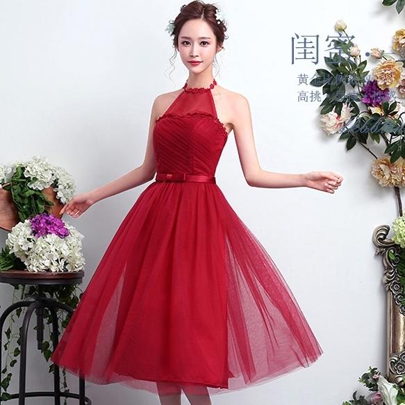 ชุดราตรียาวสีแดง คล้องคอ เปิดหลัง ลุคสวยหวาน เรียบหรู ดูดี ใส่ออกงาน ไปงานแต่งงาน ชุดเพื่อนเจ้าสาว