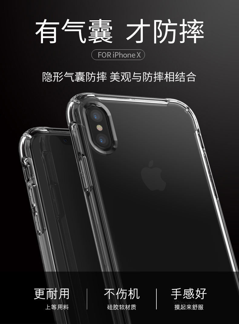 เคสใสกันกระแทก B.O.W. iPhone X